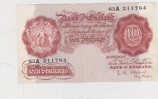 REPLACEMENT B272 O'BRIEN 63A BANK OF ENGLAND 10/- IN EXTREMELY FINE CONDITION
