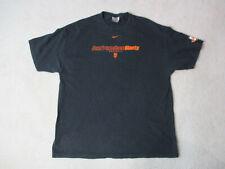 VINTAGE Nike San Francisco Giants Shirt Adult Extra Large Black Orange Baseball