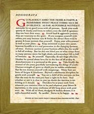 DESIDERATA POEM PRINT FRENCH OAK MDF FRAME 'GO PLACIDLY AMID THE NOISE AND HASTE