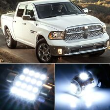 7 x Premium Xenon White LED Lights Interior Package Upgrade Ram 1500 2500 3500