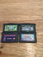Lot Of 4 Gameboy Advance Games Spyro Power Rangers Army Men Namco Museum
