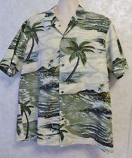 Royal Creations Men's Hawaiian Shirt Made in Hawaii Sz XL Island Palm Trees USA