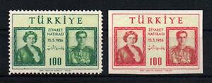1956 TURKEY  VISIT OF IRAN SHAH REZA & QUEEN SORAYA COMPLETE SET  MNH**