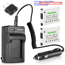 Kastar Battery Travel Charger for Canon NB-11L CB-2LD Canon ELPH 190 IS Camera