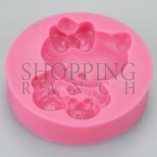 Moule Silicone Chat Mignon Cupcake topper Moule à Cake Décoration Hello Kitty