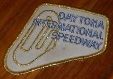 Vintage Daytona International Speedway Patch GOLD antique nascar racing NEW NOS