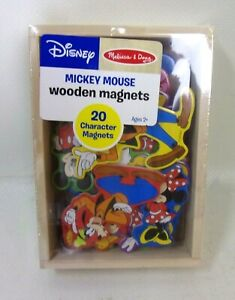 DISNEY Melissa & Doug Mickey Mouse Wooden Kids Character Magnets Toy 20 Pc