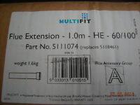Potterton Gold 24HE 28HE & 33HE A 1000MM Flue Extension Pipe 60/100MM 5111074