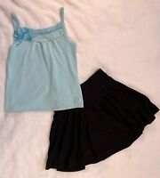 NWT Justice Girls Size 7 8 Bicycle Tee Shirt Top /& Lace Skirt Skort 2-PC OUTFIT