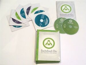 Switched on Schoolhouse Various 7th Grade Subject Curriculum Discs (10 Disc Set)