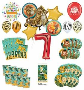 Lion King 7th Birthday Party Supplies 8 Guest Decoration Kit with Simba, Nala...