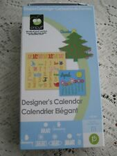 "Cricut Font Cartridge ""Designer's Calendar"" Complete w/Keyboard Overlay + Manual"