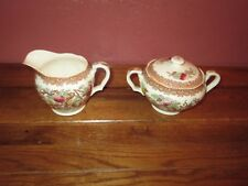 Vintage INDIAN TREE Maruta Japan Cream Creamer & Sugar Bowl