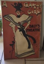 Rare affiche d'après Dudley Hardy daly's Theatre a gaiety girl XIXe