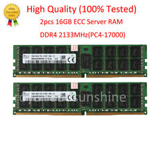 For SK Hynix 32 GB 2x 16 GB PC4-17000 DDR4 2133 Mhz ECC Server RAM 288pin @RS