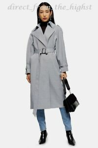 Topshop Check Trench  UK Sizes 4_6_8_10_12_14_16