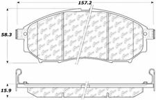 Ceramic Disc Brake Pad Set-AWD Front Centric 103.08880