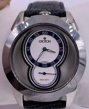 Mens Croton Tungsten Stainless Steel 165 Feet Swiss Watch