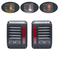 LED Integrated Tail Lights for Jeep Wrangler 4WD 4X4 Off Road Euro Style