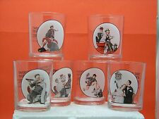 Saturday Evening Post - Norman Rockwell Drinking Glasses - Set of 6