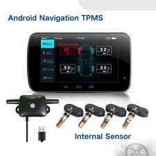 USB CAR TPMS Tire Pressure Monitoring System 4 Sensor Real Time Bar for Android