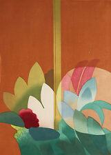 ANSEI UCHIMA-Japanese-Hand Signed LIM.ED Color Woodblock-Large Masterpiece!