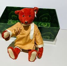 """EXCELLENT 12"""" ALFONZO LIMITED EDITION STEIFF BEAR - RED MOHAIR, SHAVED MUZZLE"""