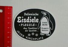Aufkleber/Sticker: Italienische Eisdiele Pinguin - Jever / Kirchplatz (04051655)