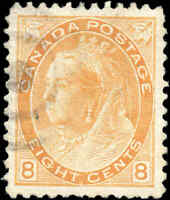 Used Canada 1899 8c VF Scott #82 Queen Victoria Numeral Issue Stamp