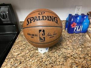 TEAM ISSUED Spalding NBA Game Ball Leather Basketball Hornets