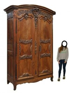 Antique Armoire, French Provincial,Louis XV, Walnut Enormous, 10 Feet, 1800's!