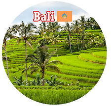 BALI, INDONESIA / FLAG / SIGHTS - ROUND SOUVENIR FRIDGE MAGNET - NEW - GIFTS