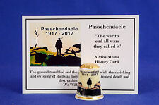 WW1 Passchendaele 1917-2017 China Thimble + History Card B/180