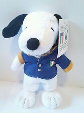 Plush Peluche Pupazzo Snoopy Peanuts Nazionale Italia Olympic Team 22Cm Soft Toy