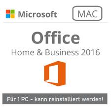 Microsoft Office 2016 Home and Business für MAC | 1 PC | Original | EU | MS | DE