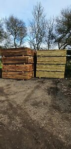 New Brown / Green Tanalised Garden Railway Sleepers A Grade 200mm 100mm 2.4m