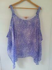 Womens Plus Size 22 Top Purple Cold shoulder