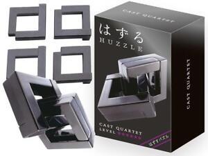 Eureka Hanayama Huzzle Puzzle Metal 3D Brain teaser Quartet Level 6