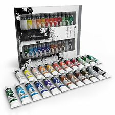 24Pcs Acrylic Paint Kit SET 24 COLORS Painting Artist Basics Color Tube Paints