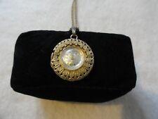Vintage Swiss Made John Alden 17 Jewels Incabloc Wind Up Necklace Pendant Watch