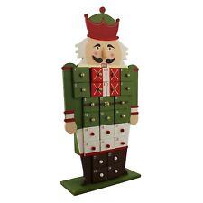 en bois Casse-noix Calendrier de l'Avent - Compte à rebours Noël - Joyeux &