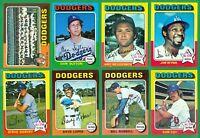 1975 TOPPS LOS ANGELES DODGERS TEAM SET  NM   CEY  SUTTON  JOHN  LOPES  GARVEY
