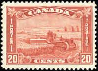 1930 Mint LH Canada F-VF Scott #175 20c King George V Arch/Leaf Stamp