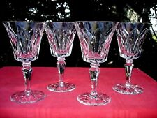 SAINT LOUIS CAMARGUE 4 WINE GLASSES VERRES A VIN 15 CM CRISTAL TAILLÉ WEINGLÄSER