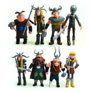 8pcs How to Train Your Dragon 2 Anime Movie Action Figure Model Collect Toy