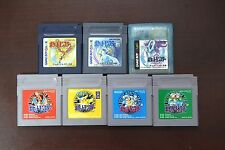 Game Boy GB Pokemon Red Green Blue Yellow Pikachu Gold Sil Crystal US Seller
