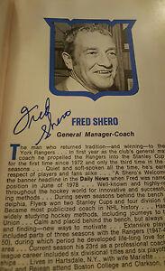 1980-81 NEW YORK RANGERS MEDIA GUIDE SIGNED BY 32 SHERO ESPOSITO CHADWICK DUGUAY