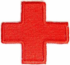 American Red Cross First Aid Nurse Doctor Patch Iron on Uniform T shirt Costume