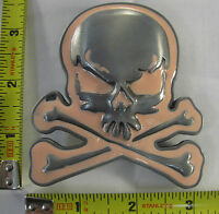PINK SKULL & CROSS BONES METAL BELT BUCKLE LADY PIRATE DEATH POISON NEW B384