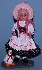 "Madame Alexander resin doll figure ""Mother Goose"" #90220 with goose NIB"